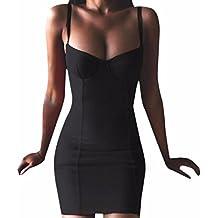 Z Verano Fresco Cuello Halter Mujeres De Los Sundress del Bodycon Vestido Corto Atractivo
