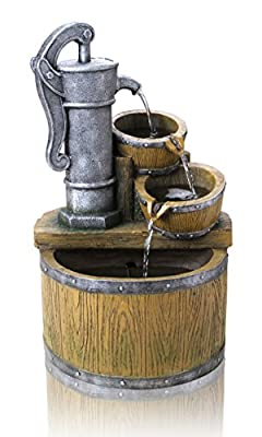 Bowden Barrel and Tap Cascade Water Feature with Lights by Ambienté from Primrose