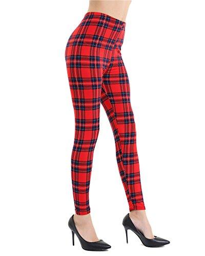 Impression Leggings pour Femme, Des Sports Gym Pants de Yoga Pantalons Athlétiques Rouge GZ