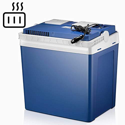 Kealive Elektrische Kühlbox, Thermoelektrische Kühlbox mit Kühl- und Warmhaltefunktion - 25 Liter,12 V für Auto und Lkw
