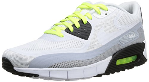 Nike Air Max 90 Br, Basket Multicolore (White/White Black Mtllc Silver)