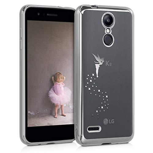 kwmobile LG K8 (2018) / K9 Hülle - Handyhülle für LG K8 (2018) / K9 - Handy Case in Silber Transparent