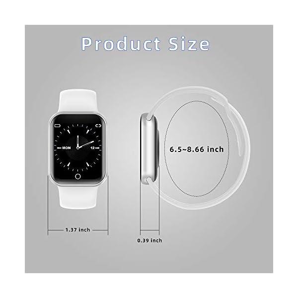 Reloj Inteligente, 1.4 Inch Smartwatch with Monitoreo de presión Arterial, Pulsómetro Impermeable IP68 Pulsera Actividad con Inteligente de Podómetro y Monitoreo del Sueño para Android y iOS 10