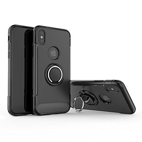 Vision OC Hülle Case mit Fingerhalter 360 Grad Ständer magnetische Halterung geeignet für iPhone X/XS XS Max und XR -