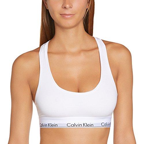 Calvin Klein - Reggiseno Modern Cotton, Donna, bianco (Weiß (White 100)), S