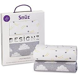 Paquete de 2 sábanas bajeras Snuz para moisés y cochecito de bebé Cloud Nine