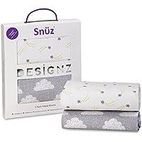 Paquete de 2 sábanas bajeras Snuz para moisés y cochecito de bebé