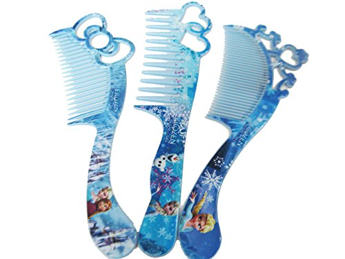 Art box 3 different HAIR COMB SET of FROJAEN for Doll Lover Girls . ( Best birthday gift) 3 counts