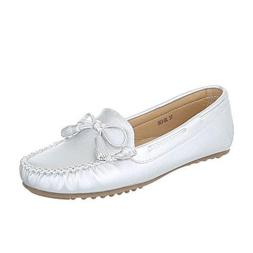 Chaussures pour femme, 380, mocassins-bL Silber 063-BL