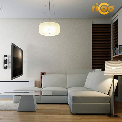 RICOO Fernseh-Halterung S3222 Flachbild-Fernseher O-LED Wohnwand LCD TV Wandhalterung Schwenkarm Flachbildschirm Fernseh-Wand-Halter VESA 200×200 - 4