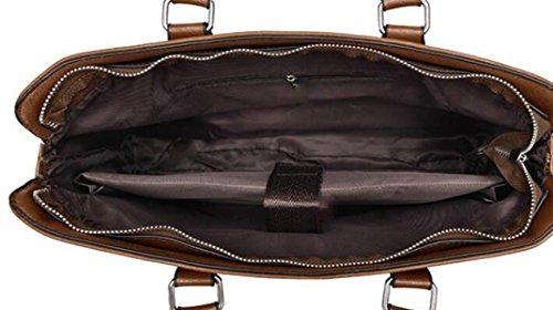 Herren Leder Tasche Handtasche Ballett Dokument Computer Taschen Schulter Skip Pack Brown