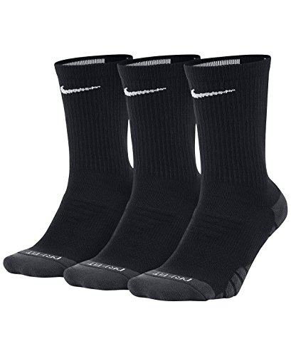 Nike Damen W NK EVRY MAX CUSH Crew 3PR Socks, Black/Anthracite/White, S (Elite Pack Nike Socks)