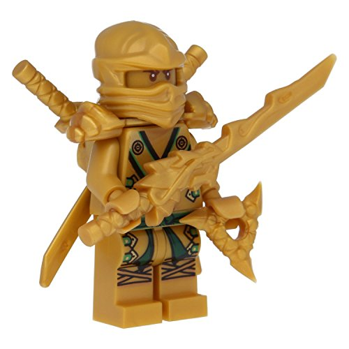lego ninjago minifigur goldener ninja figur lloyd gold mit. Black Bedroom Furniture Sets. Home Design Ideas