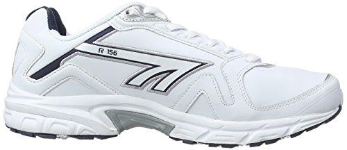 Hi-Tec R156, Baskets Basses homme Blanc - Blanc/bleu marine
