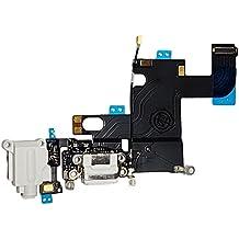 SMARTEX | Conector de Carga de Repuesto marca Smartex compatible con iPhone 6 6G Blanco – Dock de repeusto con Cable Flex, Altavoz, Antena, Micrófono y Conexión Botón de inicio.