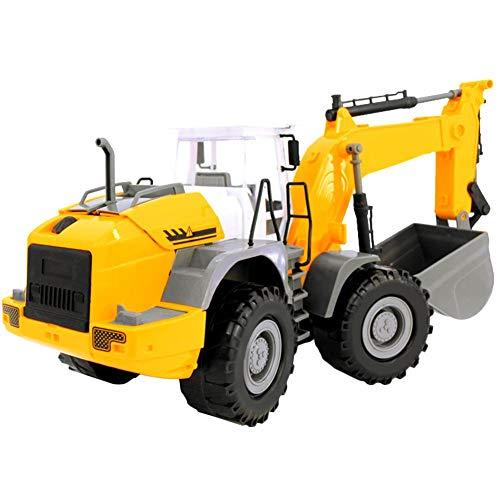 RC Auto kaufen Baufahrzeug Bild 4: RC ferngesteuerter bagger kinder Baufahrzeug für Kinder ab 3 Jahren Spielzeugauto Kranwagen Bulldozer Bagger Kinder*