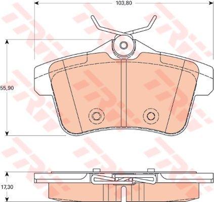 TRW Automotive AfterMarket GDB1828 Kit Pastiglie Freno, Freno A Disco