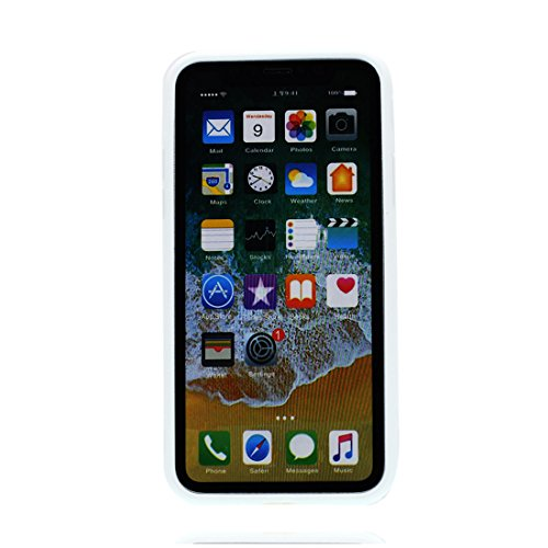 iPhone X Custodia, iPhone 10 Copertura Crystal Case gel trasparente [Slim-Fit] [Anti-Scratch] [assorbimento di scossa] [Supporta la ricarica wireless] iPhone X Copertura (Rosa fiore) # 10