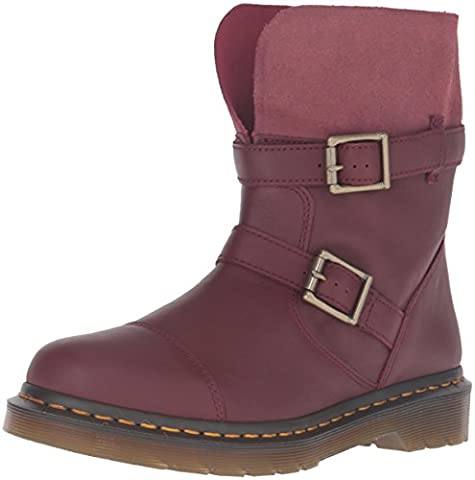 Dr. Martens KRISTY Cherry Red Virginia Red Slouch Rigger bateau 20876600, Dr. Martens Schuhe Damen:39