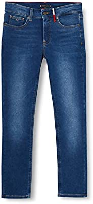 Tommy Hilfiger Scanton Slim Brushed-Brubldnm Jeans Bambino