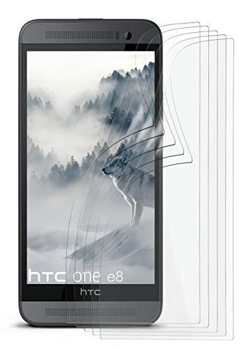 5X HTC One E8   Schutzfolie Matt Display Schutz [Anti-Reflex] Screen Protector Fingerprint Handy-Folie Matte Displayschutz-Folie für HTC One E8 Displayfolie