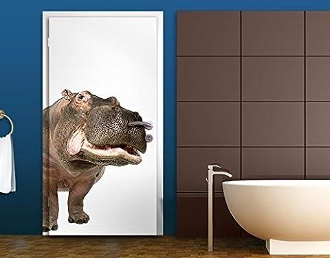 Door Wall Mural Hippo II, Größe:221cm x