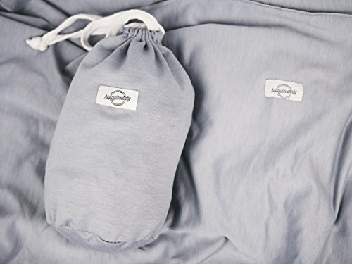 happylovebaby schadstofffreies Baby-Tragetuch für Neugeborene und Kleinkinder | Baby Wrap Carrier Sling besonders weich und atmungsaktiv / natürliche Baumwolle / elastisch - 3
