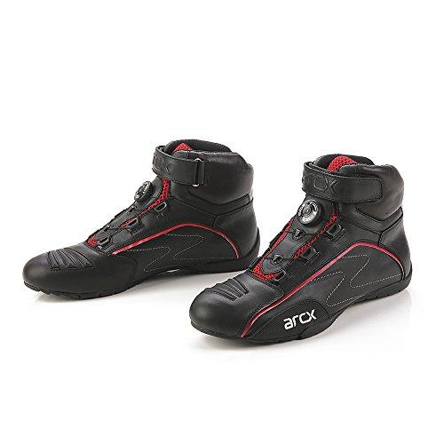 Zapatos de Moto de Cuero de Vaca, Street Moto Cruiser Botas de...