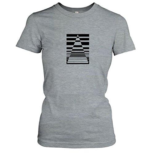 TEXLAB - The Triangle - Damen T-Shirt Graumeliert