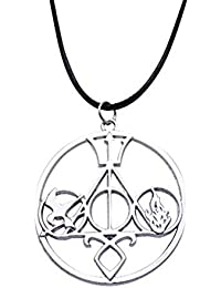 Joyería Collar Colgante Doble Cara Tres Dimensiones Ciudad de huesos/Juegos Hungry/Harry Potter