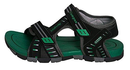 Campus MIDWAY Black Men Sandals Size- 10