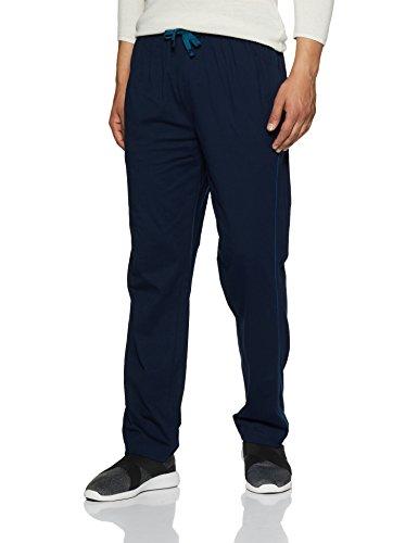 e96d43b38f84 Jockey Men s Cotton Track Pants (8901326123829 9500 Large Navy and Seaport  Teal) ...