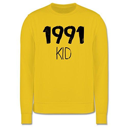 Geburtstag - 1991 KID - Herren Premium Pullover Gelb