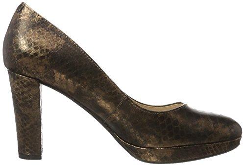 Clarks Damen Kendra Sienna Pumps Braun (Bronze Snake  )