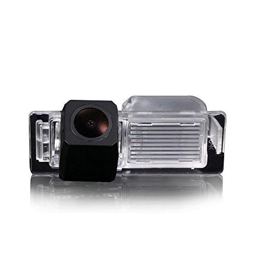 Dyna Vision améliorée Auto Caméra de recul Aide au stationnement avec 8ir Vision Nocturne 170 ° Grand Angle Étanche hoche Defination (Noir) pour Saab 9-3/93/9/X/97 x/9-4 x/95/9-5 (2002-2012)