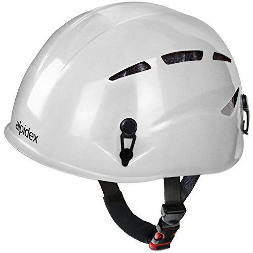 Alpidex casco universale per arrampicata e alpinismo argali via ferrata in molti colori diversi moderni, colore:bright white