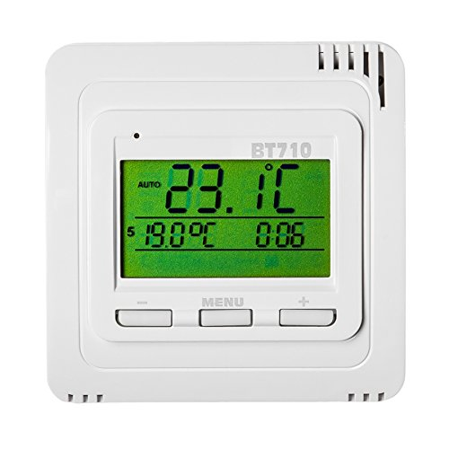 TERMOSTATO DIGITAL INALAMBRICO CALEFACCION PROGRAMABLE BLANCO PANTALLA