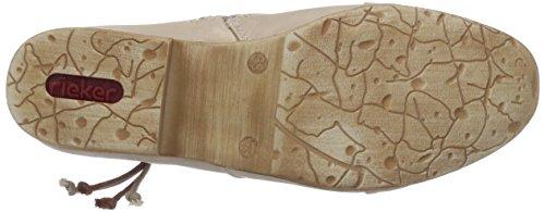 Rieker 97055, Stivali classici imbottiti a mezza gamba donna Beige (Beige (perle/stone / 60))