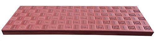 Winkel Stufenmatte Gummi, rutschfest, Gummi Treppenstufe (2 Streifen Allwetterklebeband, Braun)