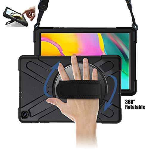 TH000 Hülle für Samsung Galaxy Tab A 10.1 2019 Stoßfeste robuste Ganzkörper-Schutzhülle mit Ständer, Handgriff & Schultergurt 10,1 Zoll-Schutz SM-T515 SM-T510
