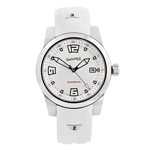 Montre Automatique Eberhard Scafomatic, SW 200-1, 42mm, 5atm, Blanc, 41026.1