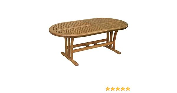 Gartentisch Chelsea Fsc Holz Oval Natur 170 Cm X 100 Cm Amazon De Kuche Haushalt