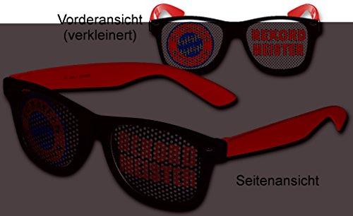 Preisvergleich Produktbild FC Bayern München Sonnenbrille Brille REKORDMEISTER