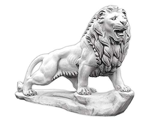 Löwe XXL stehend Links (H940) Tierfiguren Steinfiguren Steinguss Gartenfigur 150 cm Defi Link