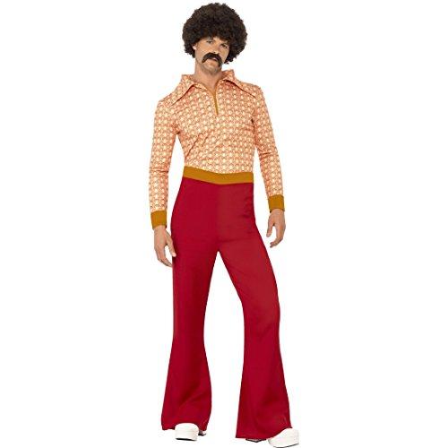 Kostüm Schlagerstar - M (48/50) - Retro Männerkostüm Saturday Night Fever Vintage Hippiekostüm Anzug mit Schlaghose 70er Jahre Outfit Herren (Chemische Anzug Kostüm)