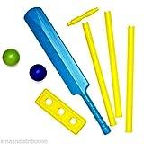 Kids Safe Toy Plastic Cricket Ball & Bat & Stumps Indoor & Outdoor Garden Play Set