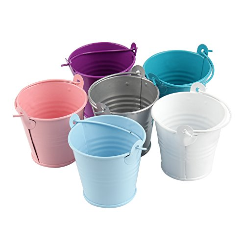 mer Dose Box Candy Buckets Souvenirs Geschenk Blecheimer für Hochzeit Party Baby Duschen (Six colors, 12 Stück) (Hochzeits-kuchen-bevorzugung Boxes)