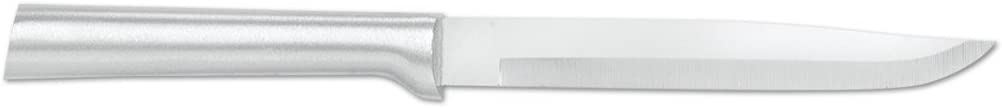 Rada Cutlery Utility Steak Knife - Stainless Steel Blade With Brushed Aluminum Handle Made in USA, 8-5/8 Inches