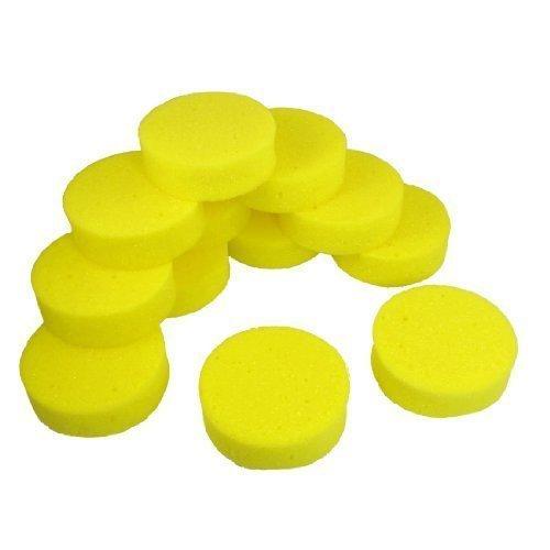 12-pezzi-99cm-dia-giallo-rotondo-lavaggio-auto-pulizia-lucidatura-spugnetta-pastiglie