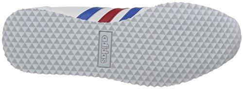 adidas Herren Vs Jog Laufschuhe Weiß (Ftwbla / Azul / Rojpot)